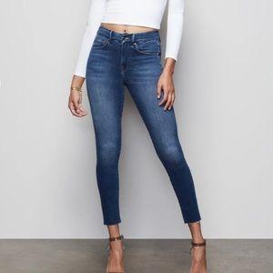 Good American Good Legs Skinny Jeans Sz 2 Raw Hem